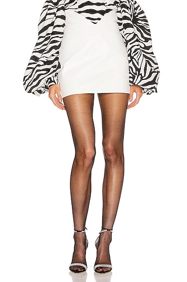 Leather Butterfly Mini Skirt