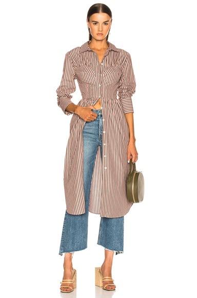 Seamed Shirt Dress