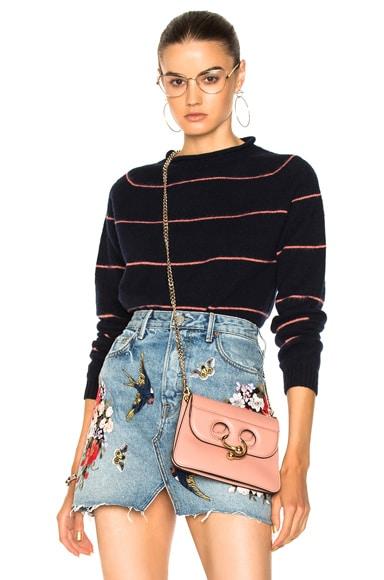 Stripe Roll Collar Sweater