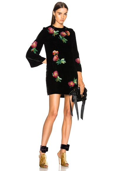 Sequin Embroidered Tunic Top