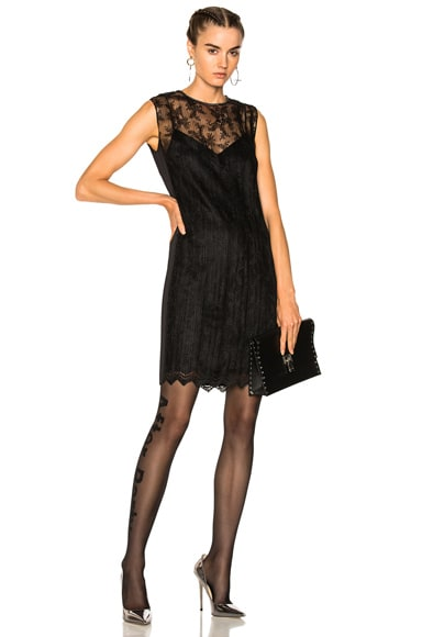 Chain Trim Lace Dress