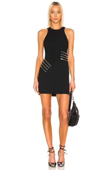 Zipper Waist Mini Dress