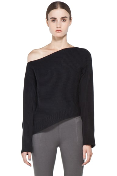 Patchwork Stitch Asymmetrical Crop Top