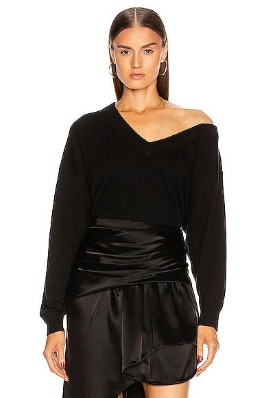 Asymmetric Off Shoulder Sweater