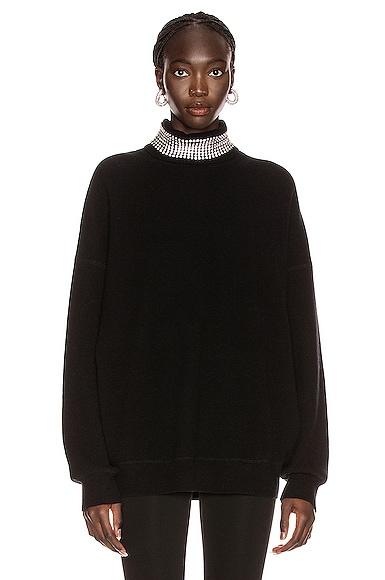 Crystal Neck Turtleneck Sweater
