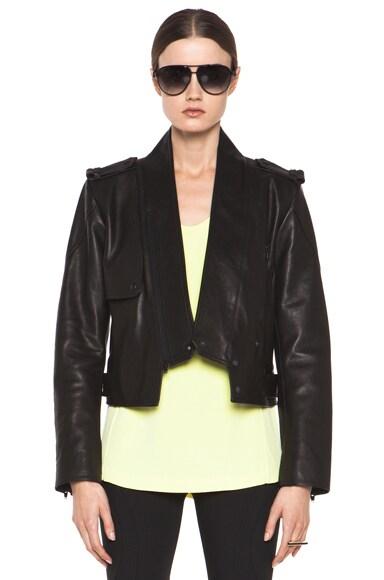 Zip Collar Moto Jacket