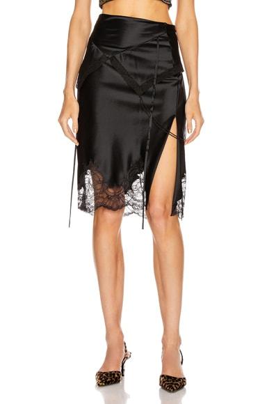 Tie Fold Over Slip Skirt