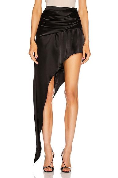 Asymmetric Floor Length Skirt