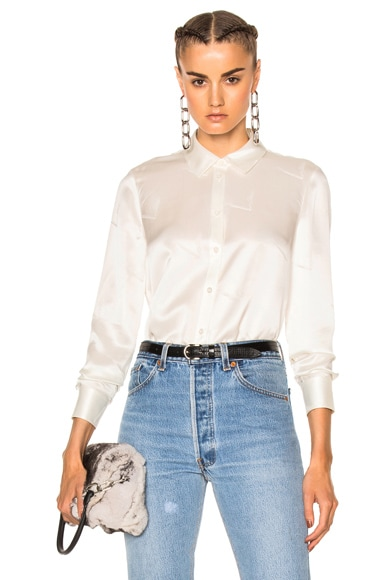 Straight Cut Button Down Top