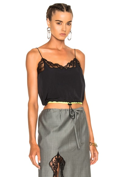 Cropped Camisole with Lace