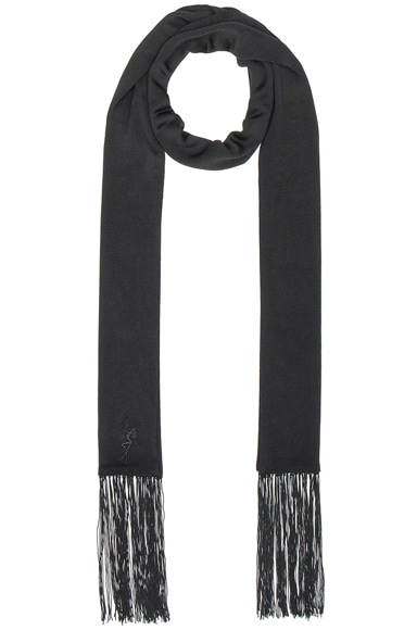 Embroidered Fringe Scarf