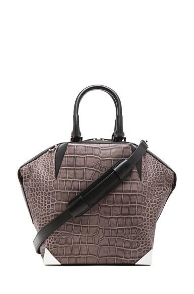 Embossed Croc Emile Prisma Bag