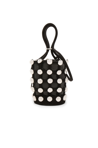Roxy Mini Bucket Suede Studded Bag
