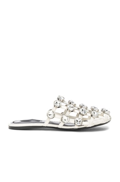 Jeweled Leather Amelia Slides