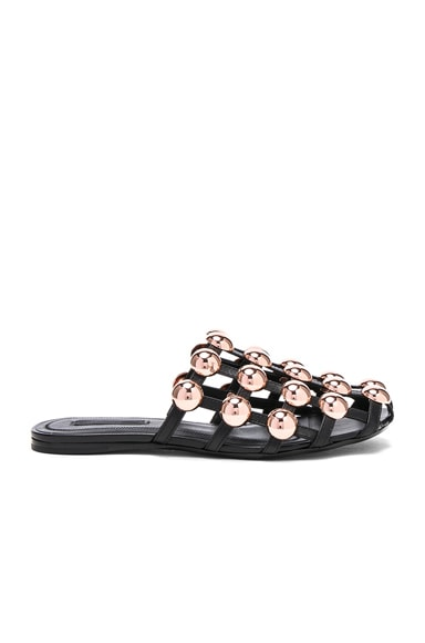 Amelia Leather Slides