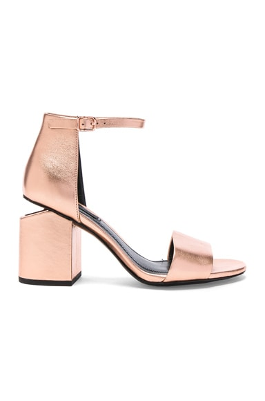 Abby Metallic Leather Sandals