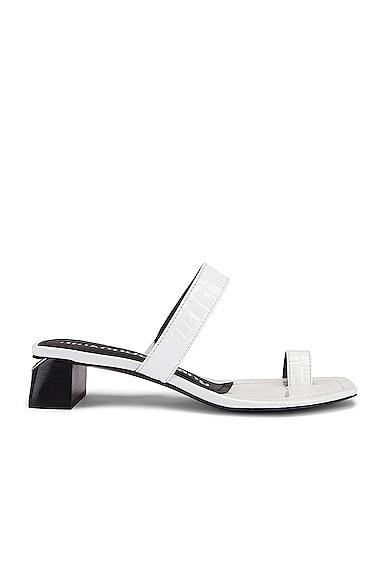 Ellis Croc Embossed Sandal