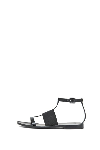 Cara Calfskin Leather Flat Sandals