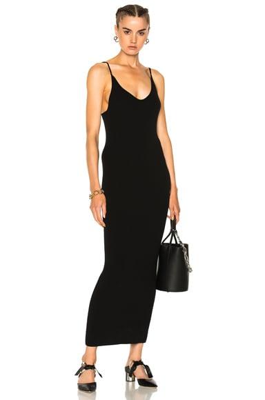 Ribbed Cashmere Midi Dress