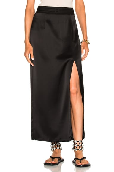 Satin Back Crepe Skirt