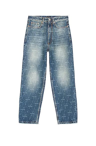 Balenciaga Regular Fit Jeans In Authentic Dark Blue