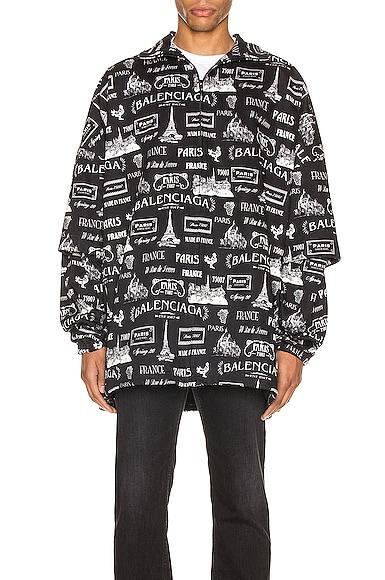 Double Sleeve Zip-Up Jacket