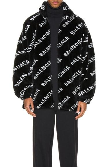 Faux Fur Zip-Up Jacket