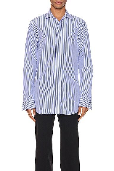 Stripe Poplin Long Sleeve Shirt