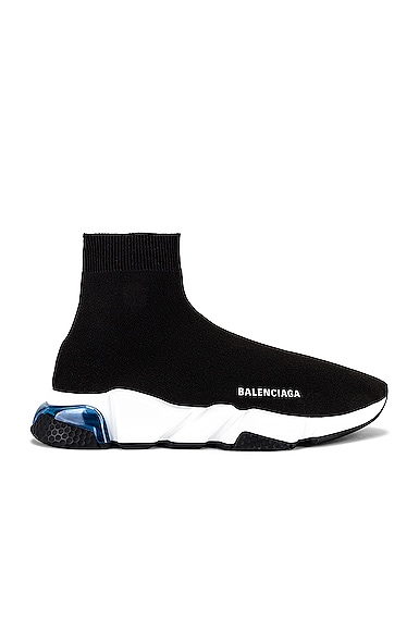 Balenciaga Speed Sneakers In Black / White