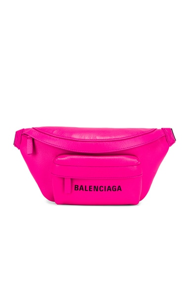 Balenciaga Xs Everyday Belt Bag In Fuchsia,black In Acid Fuchsia & Black