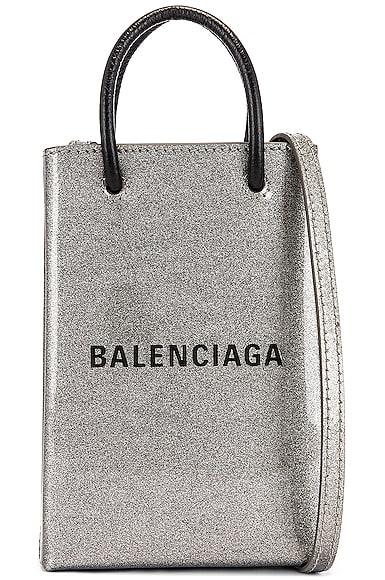 Glitter Shopping Phone on Strap Bag