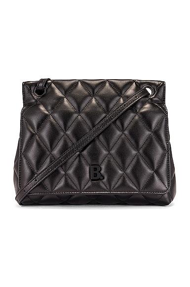 Medium Quilted Leather B Shoulder Bag