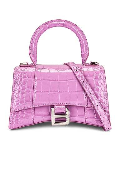 Balenciaga Leathers XS HOURGLASS TOP HANDLE BAG