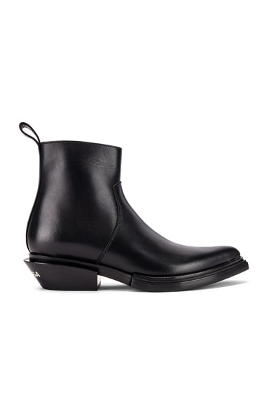 Santiag Leather Booties