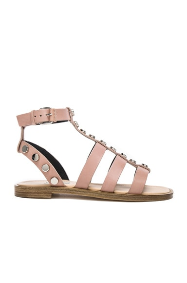 Studded Leather Gladiator Sandals