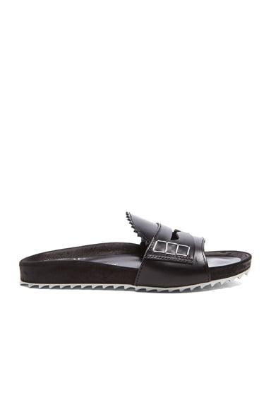 Loafer Front Slip-On Leather Sandals