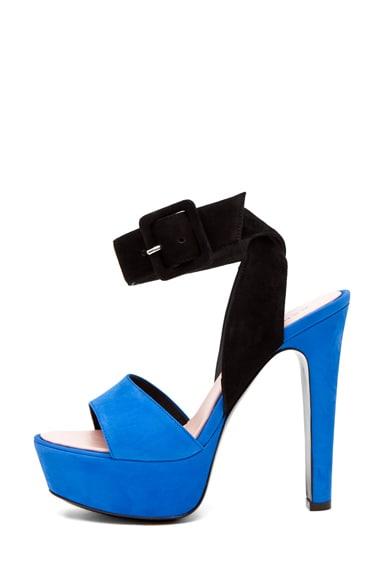 Ankle Strap Heel Blue/Black