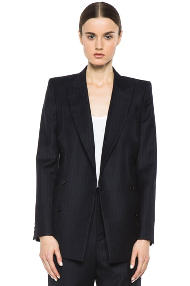 Double Breasted Tailored Wool Blazer