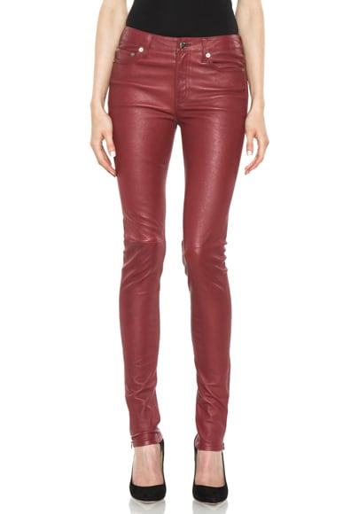 5 Pocket Skinny Leather Pant