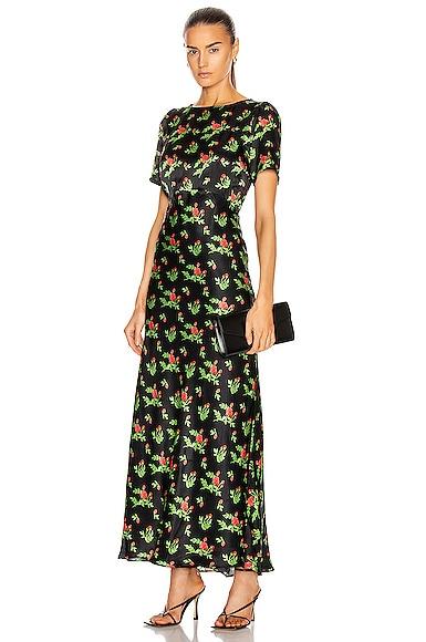 Jane Silk Satin Dress