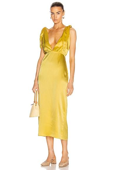 John Silk Satin Dress