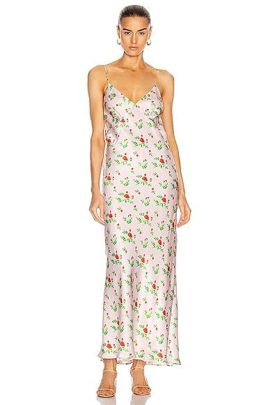 Jeanette Silk Satin Slip Dress