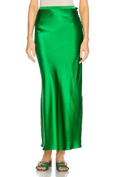 Florence Silk Satin Skirt