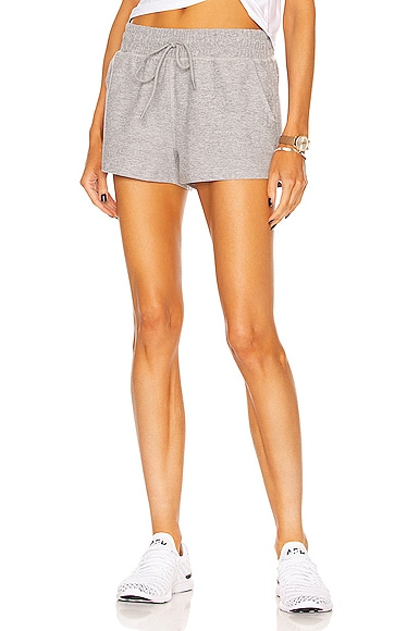 Beyond Yoga Worked Up Shorts in Light Grey