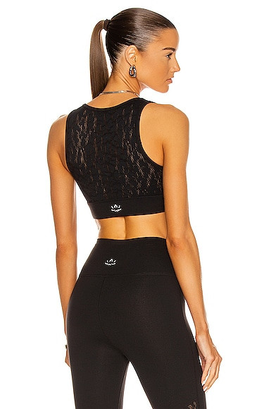 Beyond Yoga Mesh It Up Bra in Black