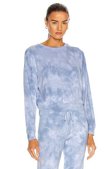 Beyond Yoga Garment Dye Day to Day Pullover in Baby Blue