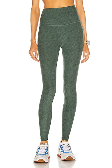 Beyond Yoga Spacedye Caught In The Midi High Waisted Legging in Green
