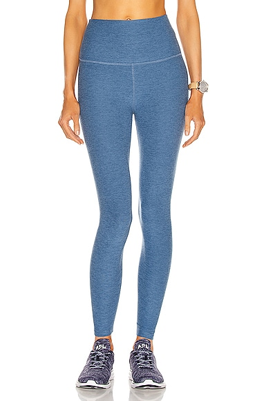 Beyond Yoga Spacedye Caught In The Midi High Waisted Legging in Blue