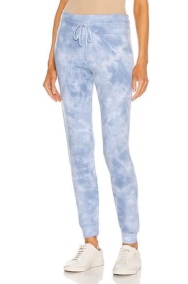 Beyond Yoga Garment Dye Lounge Around Midi Jogger in Baby Blue