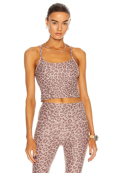 Beyond Yoga SPACEDYE PRINTED SLIM RACERBACK CROPPED TANK